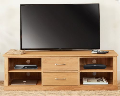 Mobel Oak Mounted Widescreen TV Unit